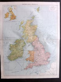 Gross 1920 Large Map. British Isles - Political